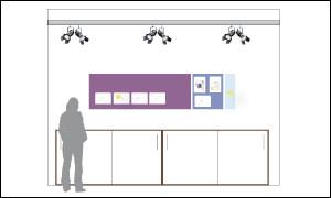 Abbildung zeigt Wandansicht eines Büros