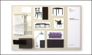 Abbildung zeigt Sampleboard für ein Café