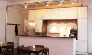 Abbildung zeigt die Küche gemäß der Entwurfvorgabe