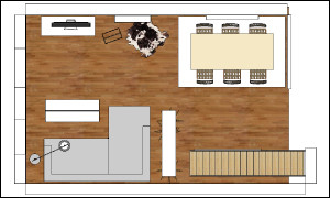 Abbildung zeigt den Grundriss vom Erdgeschoss