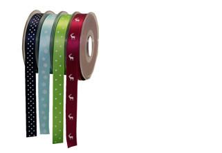 Abbildung zeigt individuell gestaltete Geschenkbänder für jeden Anlass.