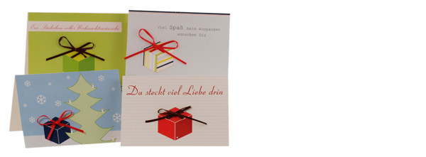Abbildung zeigt Kartenserie Motiv Geschenk