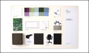 Abbildung zeigt ein Sampleboard für eine Büroaustattung